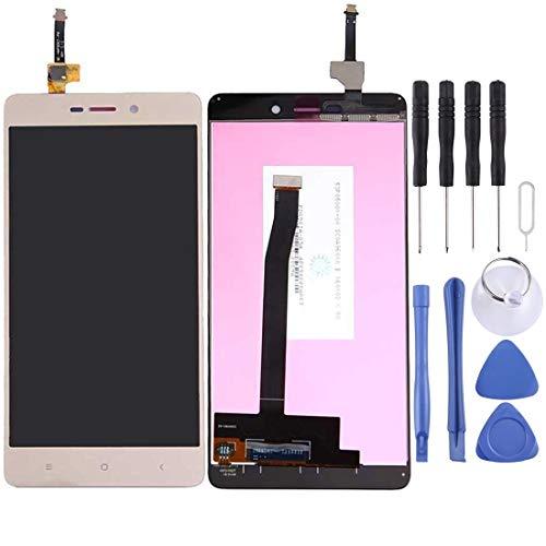EASON Protector de Pantalla -para Xiaomi redmi Pantalla 3 / 3s LCD y digitalizador Asamblea Completa (Negro) Pantalla de teléfono Celular (Color : Gold)