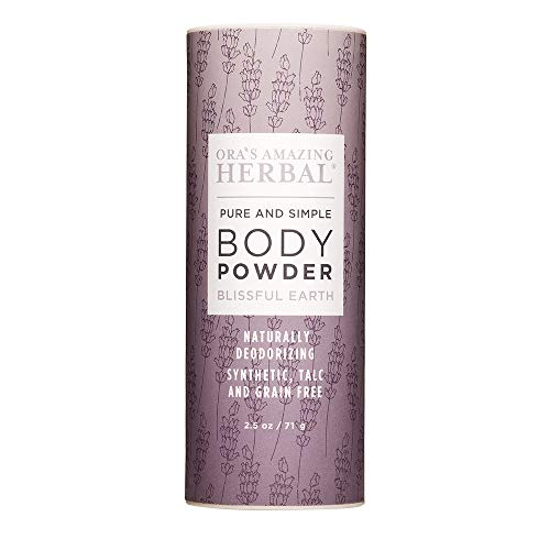 Body Powder For Women, Dusting Powder, Talcum Powder, Talc Free Powder For Women, Blissful Earth Scent With Lavender Vetiver Clary Sage, Ora's Amazing Herbal
