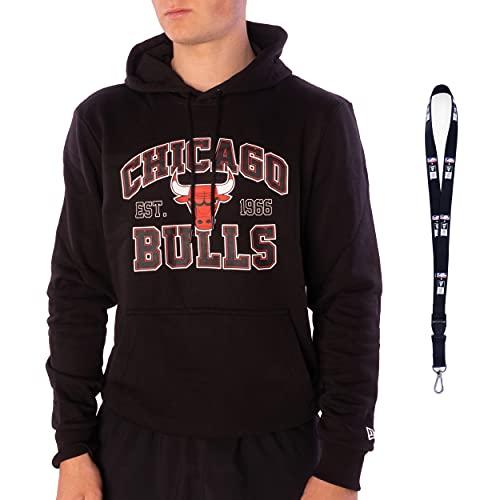 New Era Sudadera con capucha, diseño de la NFL de baloncesto de la NBA de béisbol de la MLB Team, Chicago Bulls - Mochila, XL