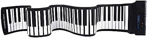 Klaviere Keyboards Tragbares elektronisches digitales Keyboard-Piano mit Blautooth-USB-Funktion 88 Tasten Flexibles Roll-Up-Musik-Piano für Kinder mit Aufnahme-Wiedergabefunktionen Fu dal 128 T  1