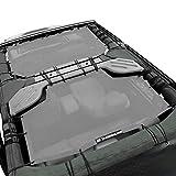 Shadeidea Sun Shade for Jeep Wrangler JK Unlimited (2007-2018) 4 Door-Gray Mesh Screen Sunshade JKU Top Cover UV Blocker with Grab Bag-One time Install 10 Years Warranty