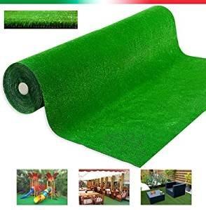Kunstrasen-Teppich wasserdurchlässig Meterware Höhe 1m beste Qualität zu 100 % in Italien hergestellt