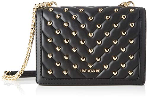 Love Moschino Jc4233pp0a, Borsa a Tracolla Donna, Nero (Black),...