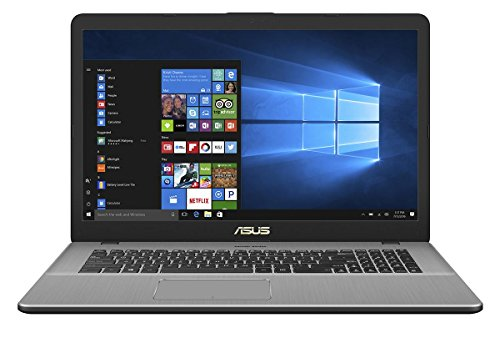 Asus VivoBook Pro 17 N705UD 90NB0GA1-M00370 43,9 cm (17,3 Zoll Full HD Matt) Notebook (Intel Core i7-7500U, 16GB RAM, 256GB SSD, 1TB HDD, NVIDIA GeForce GTX 1050 2GB, Win 10) gray metal