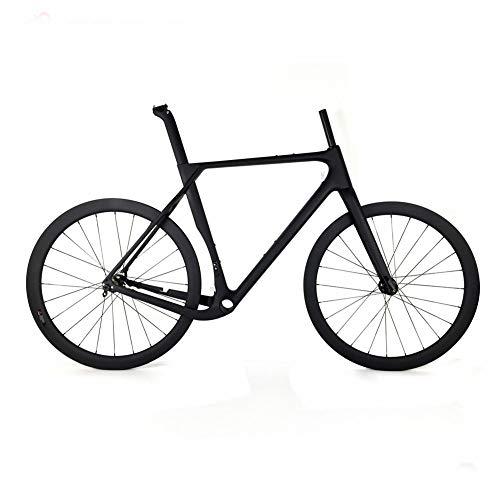 TQ Carbon Cyclocross Gravel Fahrradrahmen und Laufradsatz T1000 Carbon Scheibenbremse Rennradrahmen,52cmthruaxle