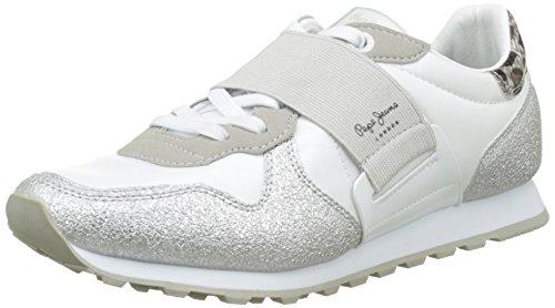 Pepe Jeans London Verona W Elastic, Zapatillas Mujer, Blanco (White), 37 EU