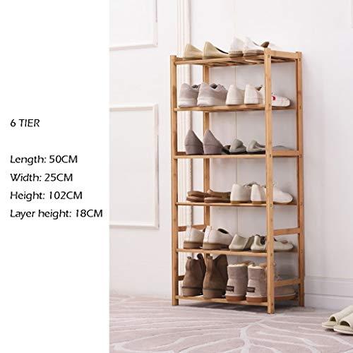 Support à rangement pour chaussures Support de rangement empilable 2 à 6 niveaux Banc Chaussures organisateur Cabinet Couverture en tissu non tissé Étagères empilables pour couloir Entrée Salle de bai