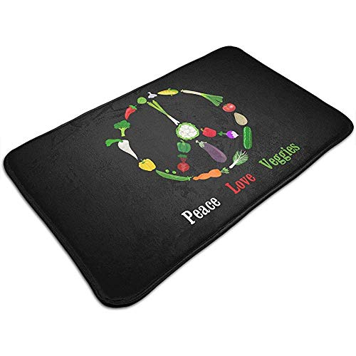 Liumt Peace Love Veggies Deurmat Decoratieve anti-slip badmat 40cm * 60cm