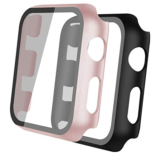 Th-some 2 pcs Transparente Funda Apple Watch Serie 3/2/1 Case for 42mm...