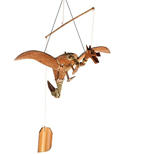 ART-CRAFT WSDR001 Windspiel Mobile Outdoor Indoor Drachen aus Kokos und Bambus