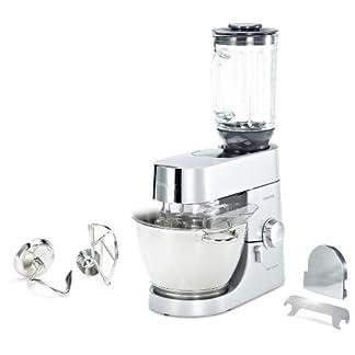 Kenwood-KMC-010-Kuechenmaschine-Chef-Plus-Entsafter-Fleischwolf-1400-Watt-Fuellmenge-46-Liter-Glas-Mixaufsatz-Silber