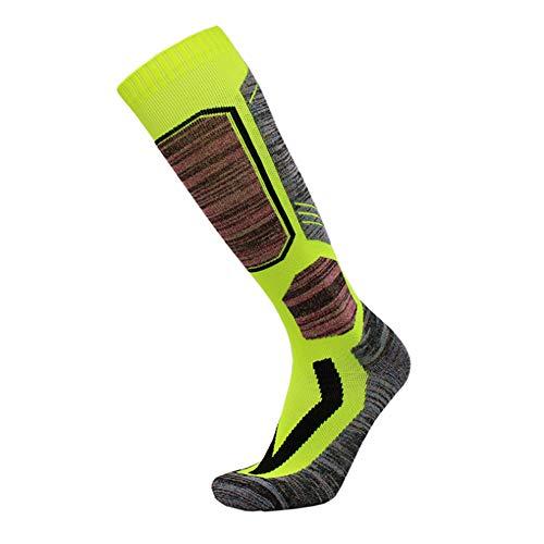 Wandern & Walking Socken Verdickte Handtuch Boden Für Skifahren, Snowboarden, Kaltes Wetter, Feuchtigkeit Absorbierenden Breathable (3 Paar),Grün,M