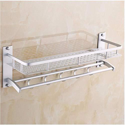 MBYW moderne minimalistische hoge dragende handdoek rek badkamer handdoekenrek Ruimte aluminium lade rack enkele laag dubbele pole handdoek rek ronde gat plaat combinatie frame
