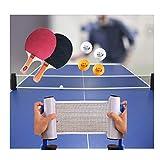 Red De Tenis De Mesa Portátil Ping Pong Table Net Professional con Abrazaderas De Soporte Mesa De Ping Pong/Escritorio De Oficina/Cocina Casera O Mesa De Comedor
