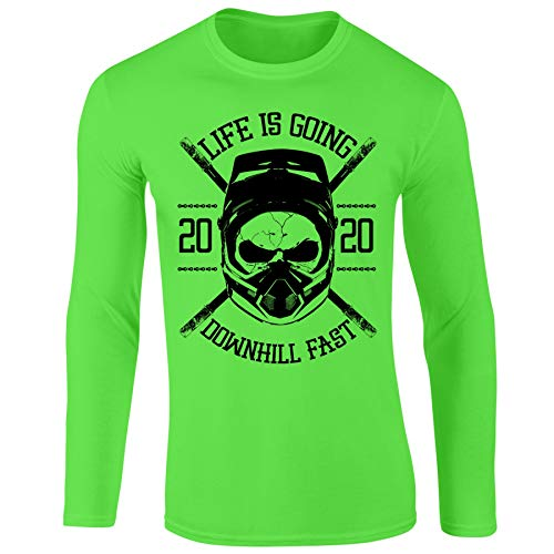 Bang Tidy Clothing Mountain Biking MTB Jersey - Personalized Cycling Gifts for Men Downhill Fast EGREEN-M