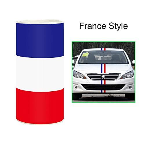 takestop® folie carbon vlag Frankrijk 4D ws1046 15 x 500 cm sticker sticker folie car wrapping auto motorfiets antigraffio 3 kleuren