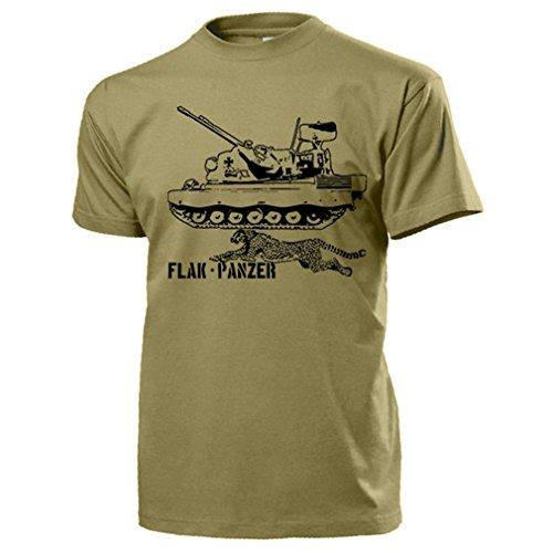 Flak Panzer Gepard BW Flugabwehrkanonenpanzer FlakPz Flugabwehr - T Shirt #17361, Farbe:Sand, Größe:Herren XXL