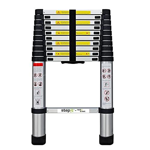 Rackit Aluminium Folding Telescopic Ladder | Step Ladder | EN-131 Certified...