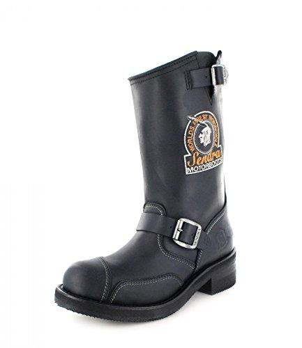Sendra Boots Bottes de motard en cuir 3565 pour homme et femme - Noir - Noir , 37 EU