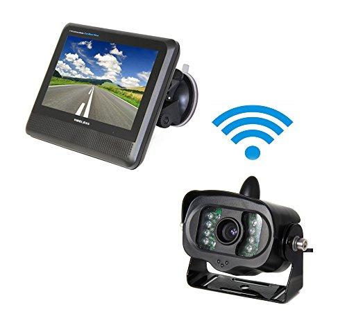 podofo 2.4GHz drahtloses Auto-hintere Ansicht-Kamerasystem 7 Zoll TFT LCD Monitor