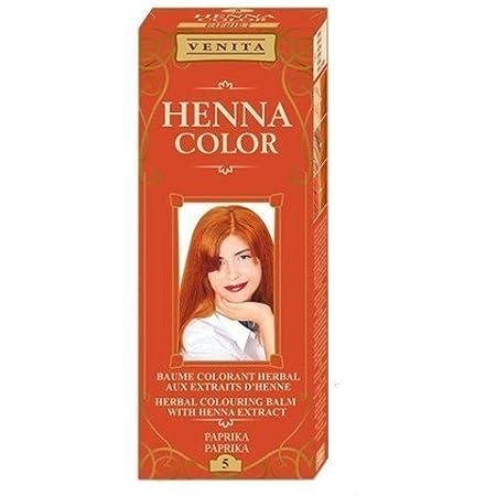 Henna Color 5 Pimiento Bálsamo Capilar Tinte Para Cabello Efecto De Color Tinte De Pelo Natural Gallina Eco