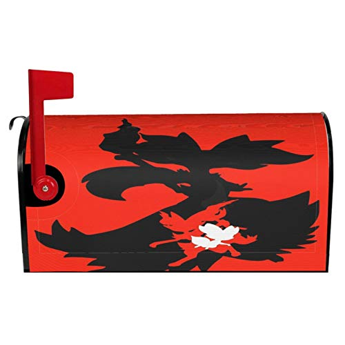 Fennekin Braixen Delphox (Evolution Line) Mailbox Cover Waterproof Oxford Cloth Washable with Magnetic Strips Post Box Wraps for Garden Decor