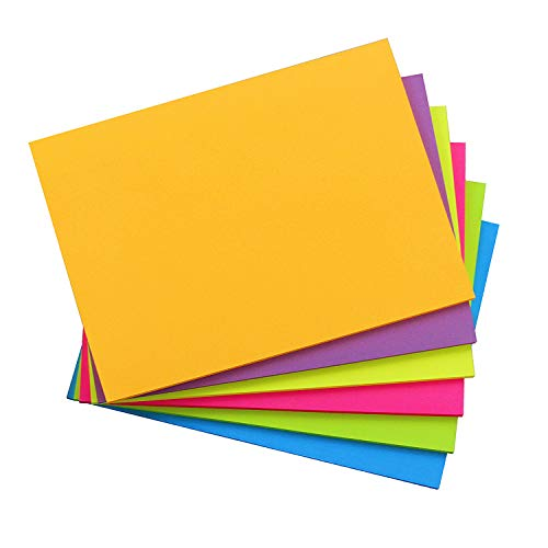 Sticky Notes 8x6, 6 Color Bright Colorful Sticky Pad, 6 Pads/Pack, 45 Sheets/Pad, Self-Sticky Note Pads