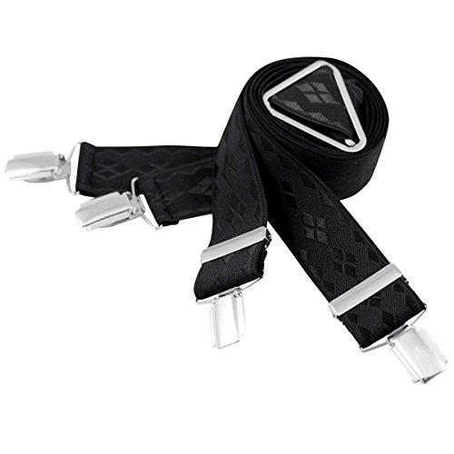 Lindenmann Mens Braces/Suspenders/mens suspenders, X-shape, 35 mm stetch, XXL, black, 7466-010, Größe/Size:120