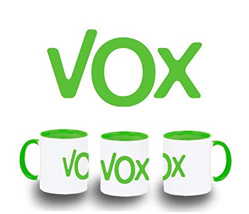 MERCHANDMANIA Taza Verde Logo Partido VOX Color mug