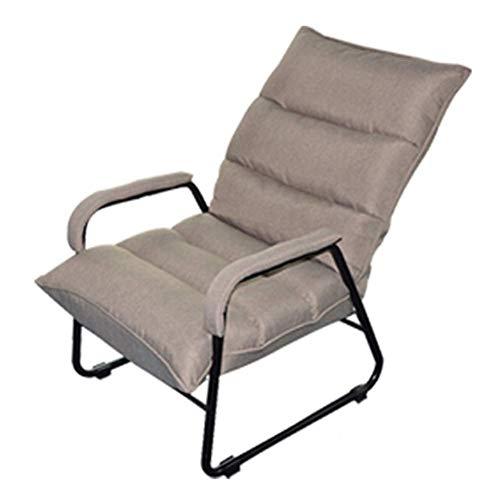 ZHFZD Klapstoel voor luide zitzakken, werkkamer voor één persoon, slaapbank voor één persoon, slaapkamer, balkon, kleine woonbank (kleur: blauw) Size lichtgrijs