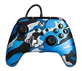 Mando con cable mejorado PowerA para Xbox: en Metallic Camo Azul, Mando, Mando para Videojuegos con Cable, Mando de Juego, Xbox Series X|S