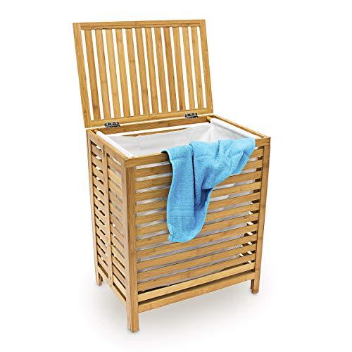 Relaxdays Cesto para la Colada, Natural Bambú