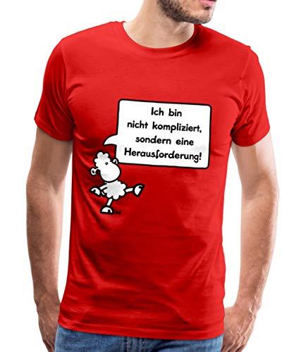 Sheepworld Ich Bin Nicht kompliziert Männer Premium T-Shirt, 3XL, Rot
