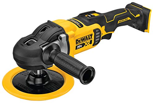 DEWALT 20V MAX XR Cordless Polisher, Rotary, Variable Speed, 7-Inch, 180 mm, Tool Only (DCM849B)