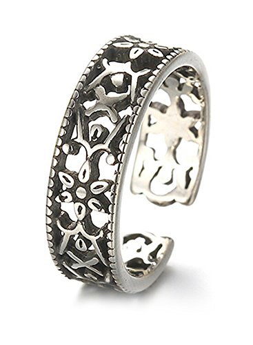 RING 925 Sterling Silber florales Ornament - Zehenring - Zehenschmuck - Yoga Esoterik Spiritualität Astrologie Meditation Energie