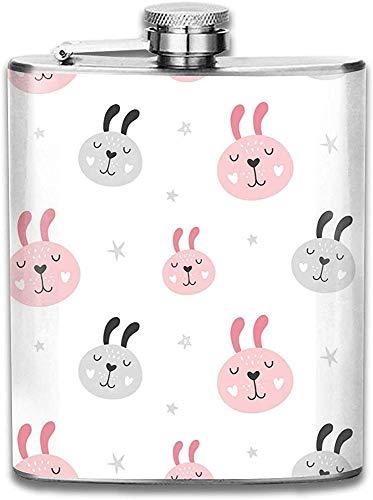 Kundengebundene rosa und graue Bärn-Avatara-Edelstahl-Wein-Flasche, Persönlichkeit-personalisiertes Flaschen-Geschenk