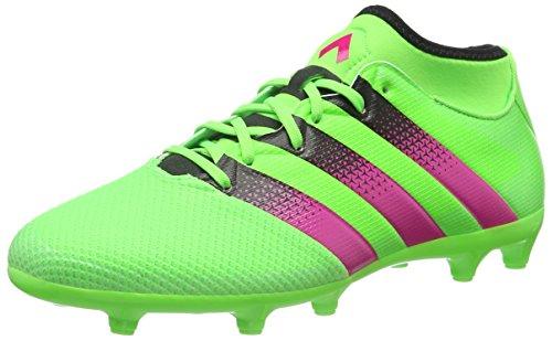 adidas Ace 16.3 Primemesh FG, Herren Fußballschuhe, Grün (Solar Green/Shock Pink/Core Black), 40 2/3 EU (7 Herren UK)