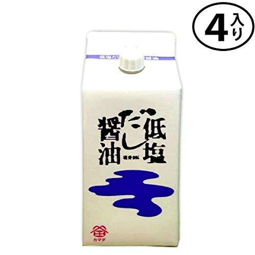 鎌田醤油 低塩だし醤油 200ml×4入り