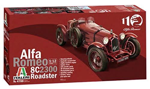Italeri 4708S 1:12 Alfa Romeo 8C/2300 1931-33, maqueta, maqueta, maqueta, modelismo, modelismo, Manualidades, Hobby, Pegado, plástico, Color Rojo