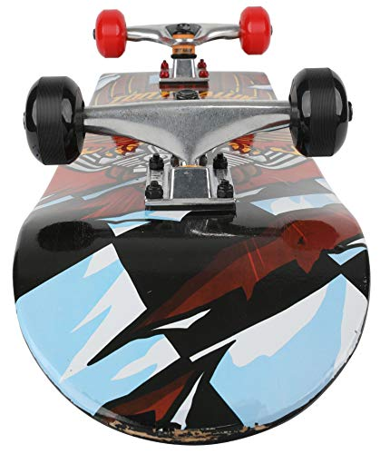 31 inch Tony Hawk Skateboard, Tony Hawk Signature Series 3, Metallic Graphics & 9-ply Maple Desk Skate Board for Cruising, Carving, Tricks and Downhill, Hawk Engine (ABO31S3TH-HEN-STK-1)