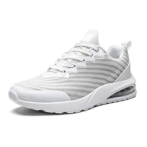 Zapatillas Deportivas de Hombre Deportivos Zapatillas Deporte Blancas Hombre Gimnasia Ligero Sneakers Malla Trekking Zapatos Casual de Hombre