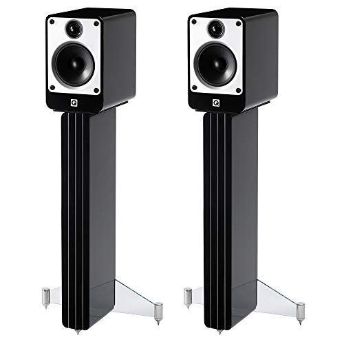 Q Acoustics Concept 20 Bookshelf Speaker Pair with Stands (Black)