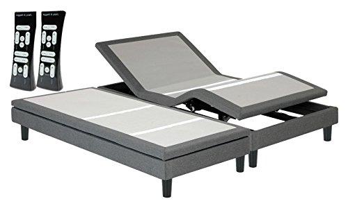 Leggett & Platt Adjustables 4AU000ST S-Cape 2.0 Furniture Style Adjustable Bed Base with Wireless Massage Wall Hugger Night Light, Split King