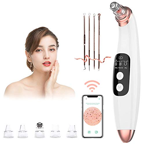 Blackhead Remover Vacuum Pore Cleaner with Camera -AMZGIRL Beauty Device with 3 Adjustable Suction...