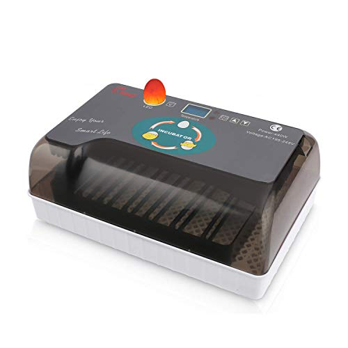 Homdox Digital Automatic Incubators, Hatching Egg Incubator 4-35 Eggs Incubator Machine with LED Display for Hatching Turkey Goose Quail Ducks Birds Pigeon Chicken Eggs