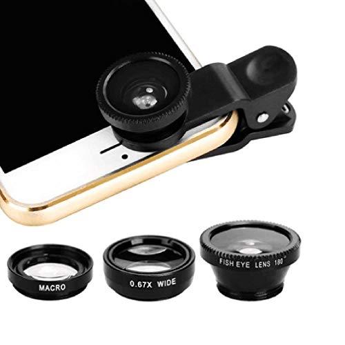 4-in-1 multifunctionele telefoonlenskit Mode Hoogwaardige aluminiumlegering Transformeer telefoon in professionele camera Zwart