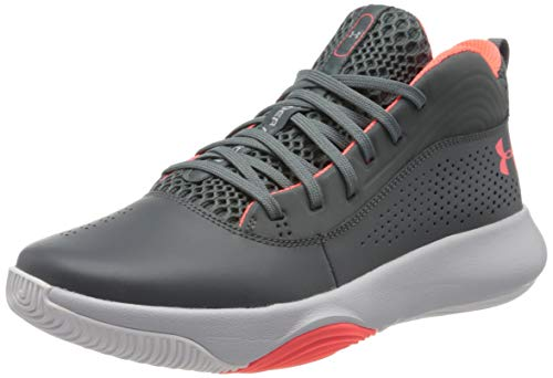 Under Armour UA Lockdown 4, Zapatos de Baloncesto para Hombre, Gris (Pitch Gray/Halo Gray/Beta), 43...