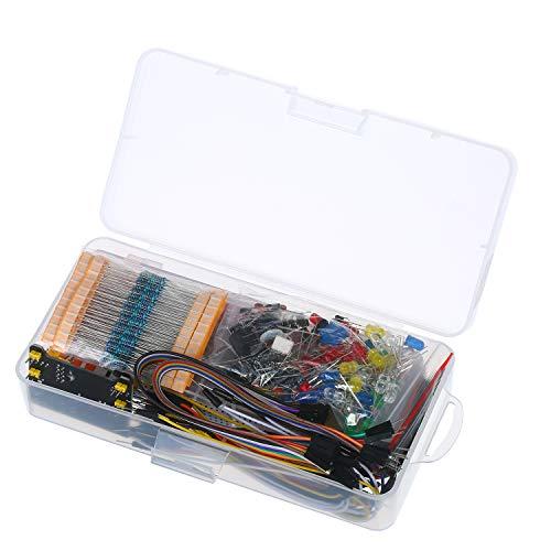 KKmoon 830 Breadboard Set Electronics Component Starter DIY Kit com caixa de plástico compatível com pacote de componente Arduino UNO R3