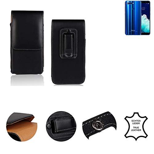K-S-Trade® Holster Gürtel Tasche Für Hisense Infinity H11 Pro Handy Hülle Leder Schwarz, 1x