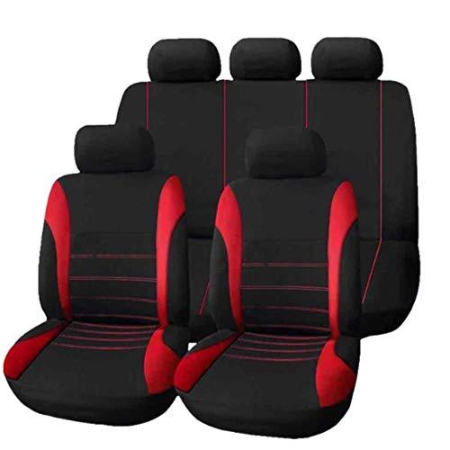 CTOBB 9-delige set van buitenlandse handel vier seizoenen universele stoelbekleding kussen auto bont stoelhoezen set universa vrouwen kussen stoel rood